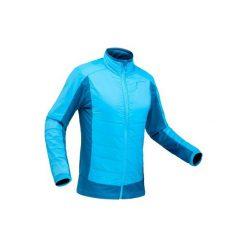 Kurtka polarowa hybrydowa turystyczna SH900 X-Warm męska. Niebieskie kurtki męskie QUECHUA, z polaru. Za 169.99 zł.