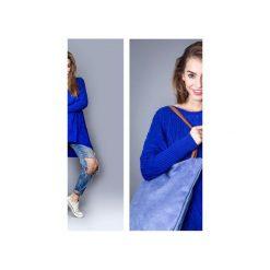 Torba basic blue. Niebieskie torebki shopper damskie Drops, z bawełny. Za 109.00 zł.