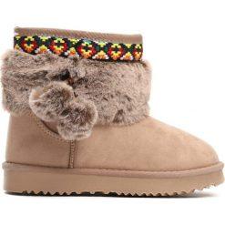 Beżowe Śniegowce Alps. Brązowe buty zimowe dziewczęce Born2be, z materiału. Za 59.99 zł.
