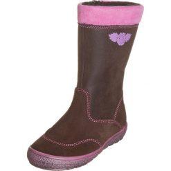 Skórzane kozaki w kolorze brązowym. Buty zimowe dziewczęce Zimowe obuwie dla dzieci. W wyprzedaży za 149.95 zł.