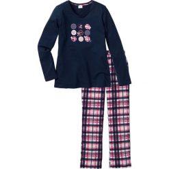 Piżama bonprix ciemnoniebieski z nadrukiem. Piżamy damskie marki MAKE ME BIO. Za 74.99 zł.