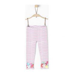 S.Oliver Legginsy Dziewczęce 128, Różowy. Niebieskie legginsy dla dziewczynek S.Oliver, w paski, z bawełny. Za 60.00 zł.