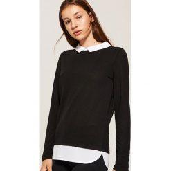 Sweter z koszulą - Czarny. Koszule damskie marki SOLOGNAC. W wyprzedaży za 29.99 zł.