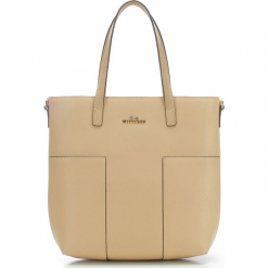 Torebka damska 86-4E-430-9. Brązowe torebki do ręki damskie Wittchen, w paski. Za 399.00 zł.