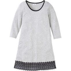 Koszula nocna z koronką bonprix jasnoszary melanż - czarny. Szare koszule nocne damskie bonprix, w koronkowe wzory, z koronki. Za 49.99 zł.