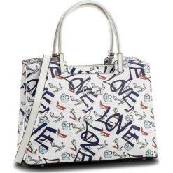 Torebka KAZAR - Sidney 32417-01-A7 White/Red/Blue. Białe torebki do ręki damskie Kazar, z napisami, ze skóry. W wyprzedaży za 549.00 zł.
