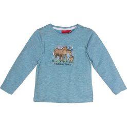 Koszulka w kolorze niebieskim. T-shirty dla chłopców Salt & Pepper, z nadrukiem, z długim rękawem. W wyprzedaży za 35.95 zł.