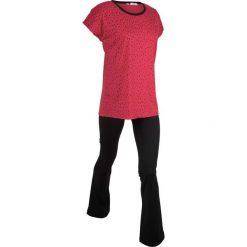 T-shirt i spodnie do jogi (komplet) bonprix czerwono-czarny. Spodnie materiałowe damskie marki DOMYOS. Za 59.99 zł.