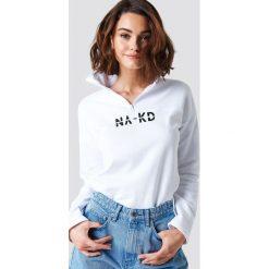 NA-KD Bluza z suwakiem - White. Białe bluzy damskie NA-KD, z bawełny. Za 161.95 zł.