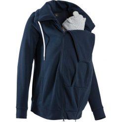 Bluza rozpinana ciążowa z wstawką niemowlęcą bonprix ciemnoniebieski. Bluzy damskie marki bonprix. Za 129.99 zł.