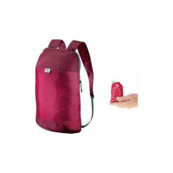 Plecak turystyczny Travel ultra compact 10l. Czerwone plecaki damskie QUECHUA, z materiału. Za 7.99 zł.