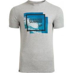 T-shirt męski TSM608 - średni szary melanż - Outhorn. Szare t-shirty męskie Outhorn, na lato, melanż, z bawełny. W wyprzedaży za 29.99 zł.