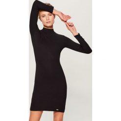 Sukienka mini z długimi rękawami - Czarny. Czarne sukienki damskie Mohito, z długim rękawem. Za 79.99 zł.