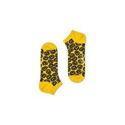 Skarpetki Happy Socks - Twisted Smile Low (TSM05-2000). Żółte skarpety męskie Happy Socks, w kolorowe wzory, z bawełny. Za 27.90 zł.