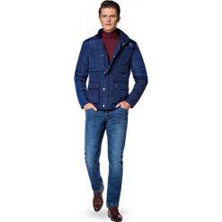 Kurtka Granatowa Bergen. Niebieskie kurtki męskie LANCERTO, na jesień, z bawełny, casualowe. W wyprzedaży za 499.90 zł.