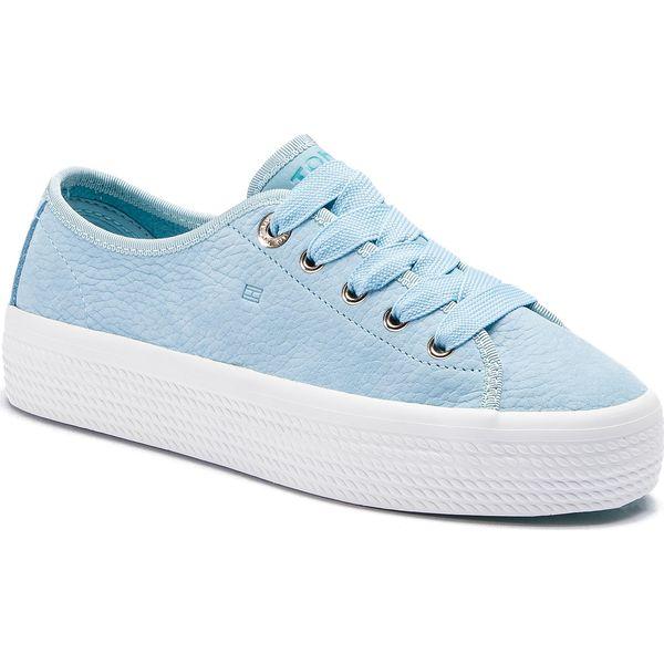 085c11083b5dc Tenisówki TOMMY HILFIGER - Nubuck Flatform Sneaker FW0FW04090 ...