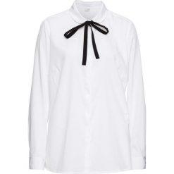 Bluzka bonprix biały. Białe bluzki damskie bonprix, biznesowe. Za 74.99 zł.