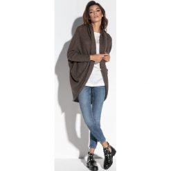 Luźny sweter oversize fb555. Brązowe kardigany damskie Fobya. Za 129.00 zł.
