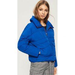 Kurtka typu puffa - Niebieski. Niebieskie kurtki damskie Sinsay. Za 99.99 zł.