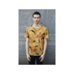 T-shirt Prehistoric. Szare t-shirty męskie Bahabay, z nadrukiem, z bawełny. Za 83.30 zł.