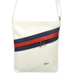 Grosso Bag Torebka Damska Biały. Białe torebki do ręki damskie Grosso Bag, w paski. Za 135.00 zł.