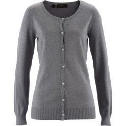Sweter rozpinany bonprix szary melanż. Kardigany damskie marki bonprix. Za 69.99 zł.
