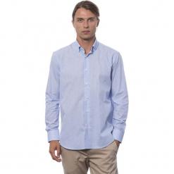Koszula w kolorze błękitnym. Niebieskie koszule męskie Roberto Cavalli, Trussardi, w kratkę, z klasycznym kołnierzykiem. W wyprzedaży za 219.95 zł.