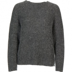 Sweter w kolorze szarym. Szare swetry damskie Gottardi, prążkowane, z okrągłym kołnierzem. W wyprzedaży za 173.95 zł.