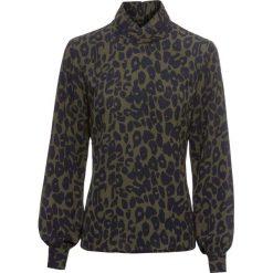 Bluzka w cętki leoparda bonprix oliwkowy w cętki leoparda. Zielone bluzki damskie bonprix. Za 109.99 zł.