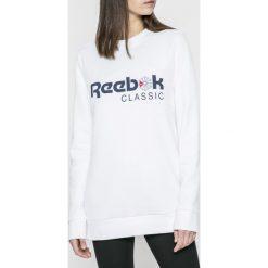 Reebok Classic - Bluza. Szare bluzy damskie Reebok Classic, z nadrukiem, z bawełny. W wyprzedaży za 129.90 zł.