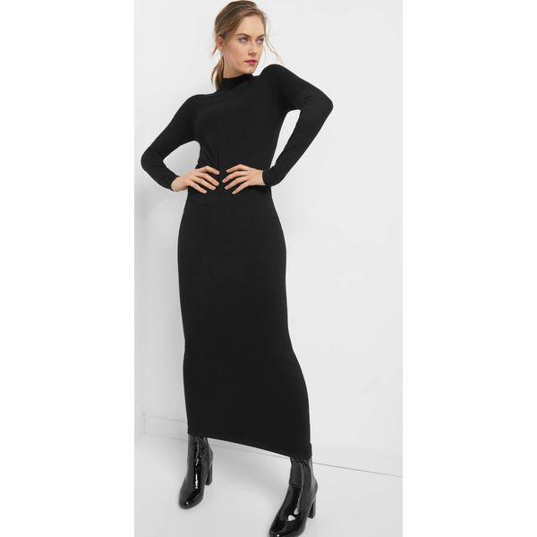 ab2060c025 Dopasowana sukienka maxi - Czarne sukienki damskie marki Orsay