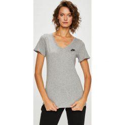 Nike Sportswear - Top. Szare topy damskie Nike Sportswear, z bawełny, z krótkim rękawem. Za 79.90 zł.