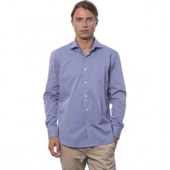 Koszula w kolorze chabrowym. Niebieskie koszule męskie Roberto Cavalli, Trussardi, z klasycznym kołnierzykiem. W wyprzedaży za 219.95 zł.
