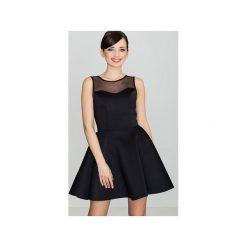Sukienka K238 Czarny. Czarne sukienki damskie Lenitif, bez rękawów. Za 139.00 zł.
