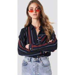 Rut&Circle Koszula w paski Evelyn - Blue. Niebieskie koszule damskie Rut&Circle, w paski, z poliesteru, z krótkim rękawem. Za 141.95 zł.