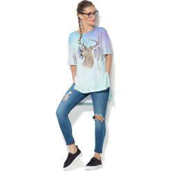 Colour Pleasure Koszulka CP-033  77 błękitna r. uniwersalny. Bluzki damskie marki Colour Pleasure. Za 76.57 zł.