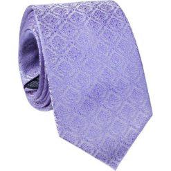 Jedwabny krawat KWFR000249. Fioletowe krawaty i muchy Giacomo Conti, w geometryczne wzory, z jedwabiu, eleganckie. Za 129.00 zł.