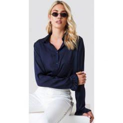 NA-KD Satynowa koszula - Blue,Navy. Niebieskie koszule damskie NA-KD, z materiału. Za 121.95 zł.