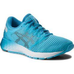 Buty ASICS - RoadHawk FF 2 1012A123 Aquarium/Black 400. Niebieskie obuwie sportowe damskie Asics, z materiału. W wyprzedaży za 349.00 zł.