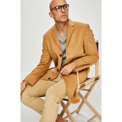 Calvin Klein - Płaszcz. Brązowe płaszcze męskie Calvin Klein, z kaszmiru, klasyczne. Za 1,599.00 zł.