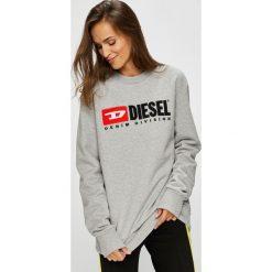 Diesel - Bluza. Szare bluzy damskie Diesel, z aplikacjami, z bawełny. Za 569.90 zł.