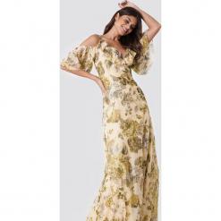 Trendyol Sukienka maxi z nadrukiem w kwiaty - Beige,Multicolor. Brązowe sukienki damskie Trendyol, w kwiaty, z poliesteru. W wyprzedaży za 141.98 zł.
