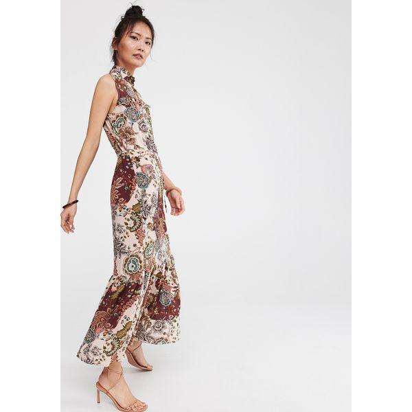 d620d21285e23e Długa sukienka z falbaną - Wielobarwny - Sukienki damskie Reserved ...
