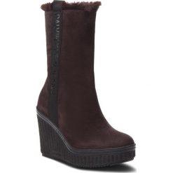 Kozaki CALVIN KLEIN JEANS - Shuana RE9767 Dark Brown. Brązowe kozaki damskie Calvin Klein Jeans, z jeansu. Za 769.00 zł.