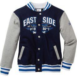 """Bluza rozpinana """"college"""" bonprix ciemnoniebiesko-jasnoszary melanż. Bluzy dla chłopców bonprix, melanż. Za 74.99 zł."""