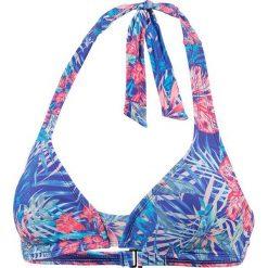Biustonosz bikini w kolorze niebieskim. Bikini damskie Roxy, z haftami. W wyprzedaży za 86.95 zł.