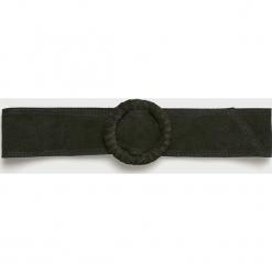 Answear - Pasek Heritage, skórzany. Czarne paski damskie ANSWEAR, w paski, z materiału. Za 69.90 zł.