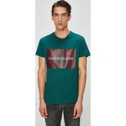 Calvin Klein Jeans - T-shirt/polo J30J307843. Szare koszulki polo męskie Calvin Klein Jeans, z nadrukiem, z bawełny. Za 199.90 zł.