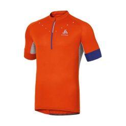Odlo Koszulka rowerowa Stand-up Collar s/s 1/2 Zip Isola pomarańczowa r. XXL (410912XXL). T-shirty i topy dla dziewczynek Odlo. Za 147.44 zł.