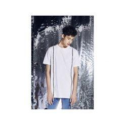 T-shirt z suwakami na froncie - biały. Białe bluzki z długim rękawem męskie Male-me, z bawełny. Za 199.00 zł.